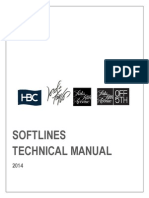 Soft Lines Technical Manual 2014