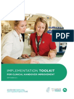 Implementation Toolkit for Clinical Handover Improvement