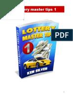Lottery Master Tips