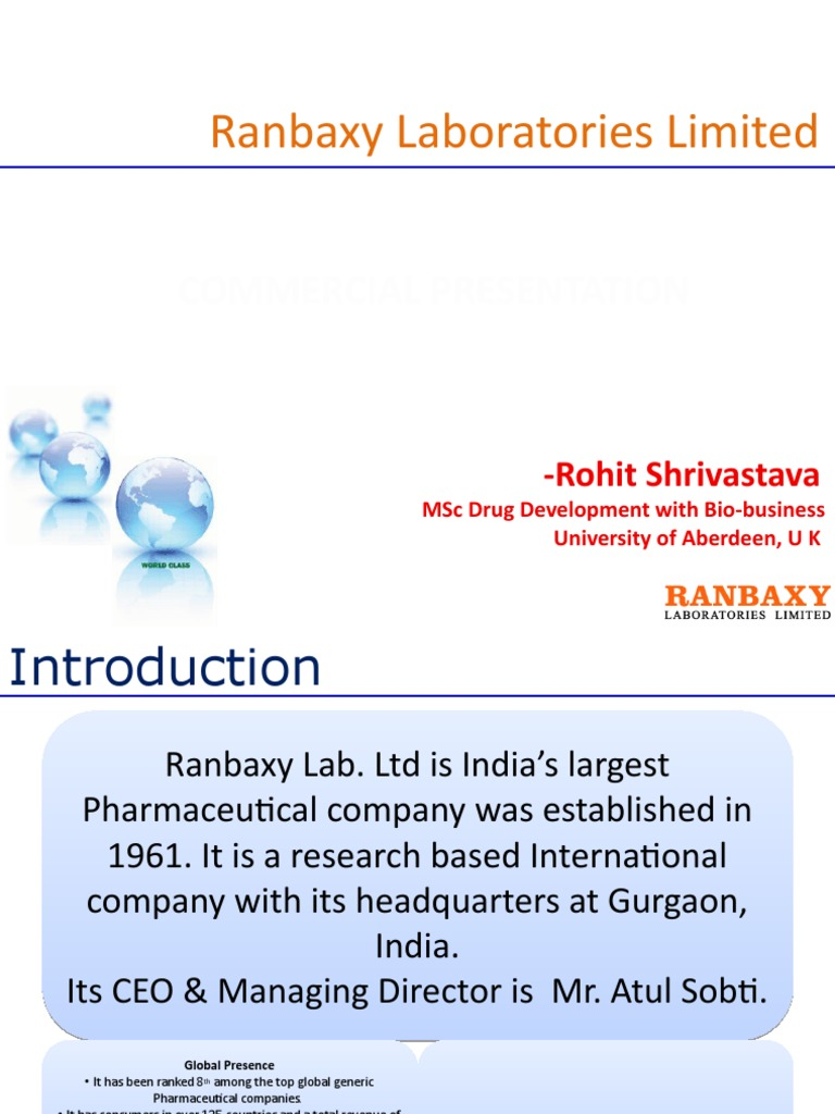 Ranbaxy Laboratories Limited   Pharmaceutical Industry (126 views)