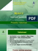 Modul 3 Prosedur Vaksinasi (Soedjamtiko)