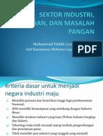 Sektor Industri, Pertanian, Dan Masalah Pangan