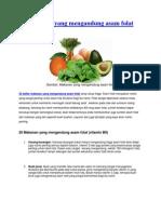 20 Makanan yang mengandung asam folat.docx