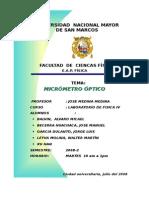 Informe Experiemental Micrometro Optico.doc