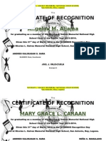 Certificates Choir