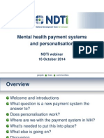 MH Payment System and Personalisation, NDTi Webinar 16 Oct 2014