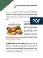 Alimentos Para El Colon Irritable - Que Puedes y Que No Puedes Comer