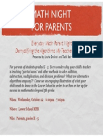 math night for parents 2014