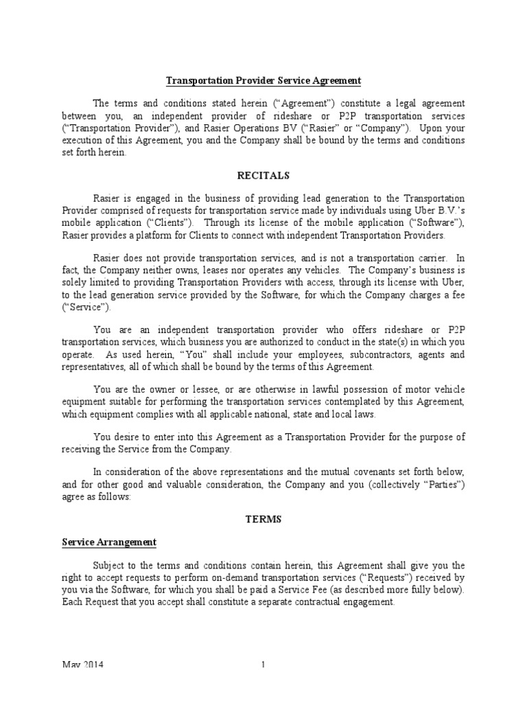 Uber transportation provider service agreement assignment law uber transportation provider service agreement assignment law withholding tax platinumwayz