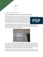 Pope Paul VI Beatification Overshadowed by Involvement in Nazi Ratline