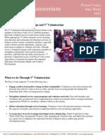 Peace Corps V2 Volunteerism  Info Brief 2013