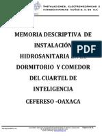 MEMORIA DESCRIPTIVA  DE INSTALACIÓN HIDROSANITARIA DEL CIN.pdf