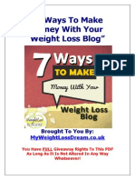 Monetise Your Weight Loss Blog