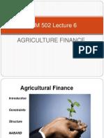 ABM 502 Lecture 6