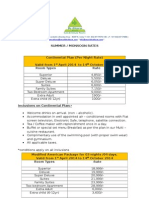 summer -monsoon package 2014 revised rates