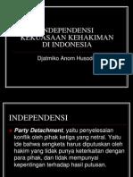 Independensi Kekuasaan Kehakiman Di Indonesia