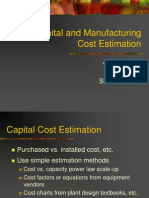 Capital and Manufacturing Cost Estimation.ppt