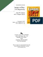 The Crisis of European Union Crisis of European Union