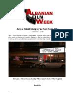 Java e Filmit Shqiptar në New York -21-27 Nentor 2014