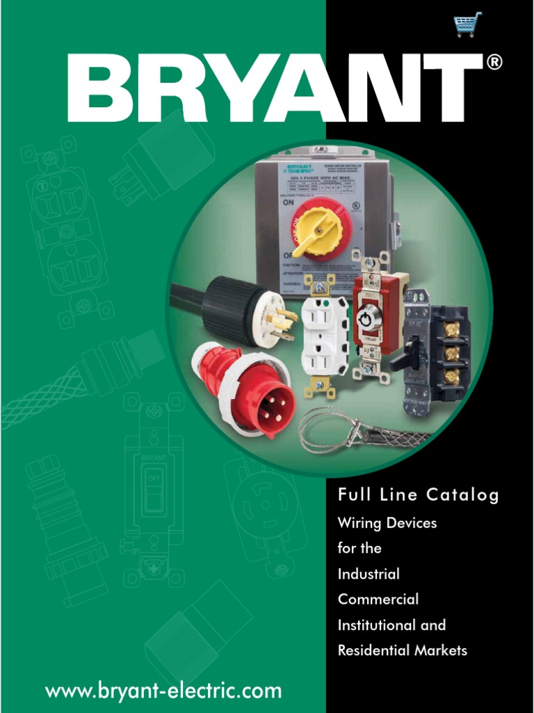 bryant catalog bc 001 electrical connector electrical wiring rh scribd com bryant wiring devices catalog bryant wiring devices distributor