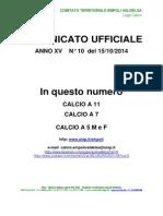 C.U. N.10 DEL 15.10.2014 del 16