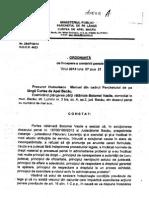 Ordonanta de Urmarire Penala Impotriva Judecatorului Laurentiu Paduraru