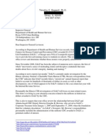10/11/10 letter from Tim Bagwell PhD to HHS Inspector General Dan Levinson re