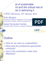 6 Ruth Allington Geoscientists and Sustainability Tues Pm