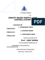 DENSITY BASED TRAFFIC LIGHT CONTROL SYSTEM