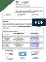 Maths Newsletter 5