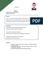 Curriculum Vitae Ricardo Maldonado Montes.