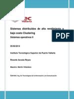 Sistemas distribuidos de alto rendimiento a bajo costo Clustering.docx