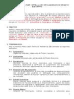 Modelo- Termo de Referencia para contratacao da elaboracao de Projeto Executivo 2012 (1).doc