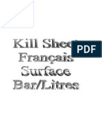 Calculs Kill Sheet