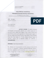 Decisión Judicial sobre solicitud de excepción de prescripción de crímenes en El Frontón (1986)