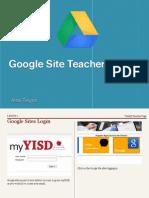 Google Site Teacher Basics