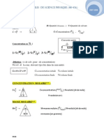Formules  des Science Secondaire