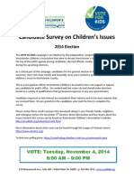VOTE for KIDS Candidate Survey 2014