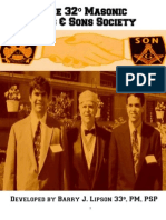 Masonry - Masonic Dads & Sons Society For Scottish Rite, Grand Lodge & Shrine - with Ritual, Recommendations & Slides, developed by Barry J. Lipson 33°, PM, PSP