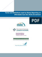 Terms and Definitions Used by States Reporting on Affordable Care Act (ACA) Enrollment