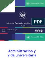 Informe del Rector al Consejo Superior