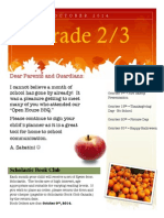 october newsletter grade 2-3