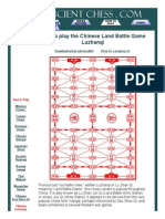 How to Play Luzhanqi - Chinese Land Battle Chess - Xiangqi - Shogi