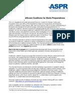Coalition Checklist Ebola Preparedness