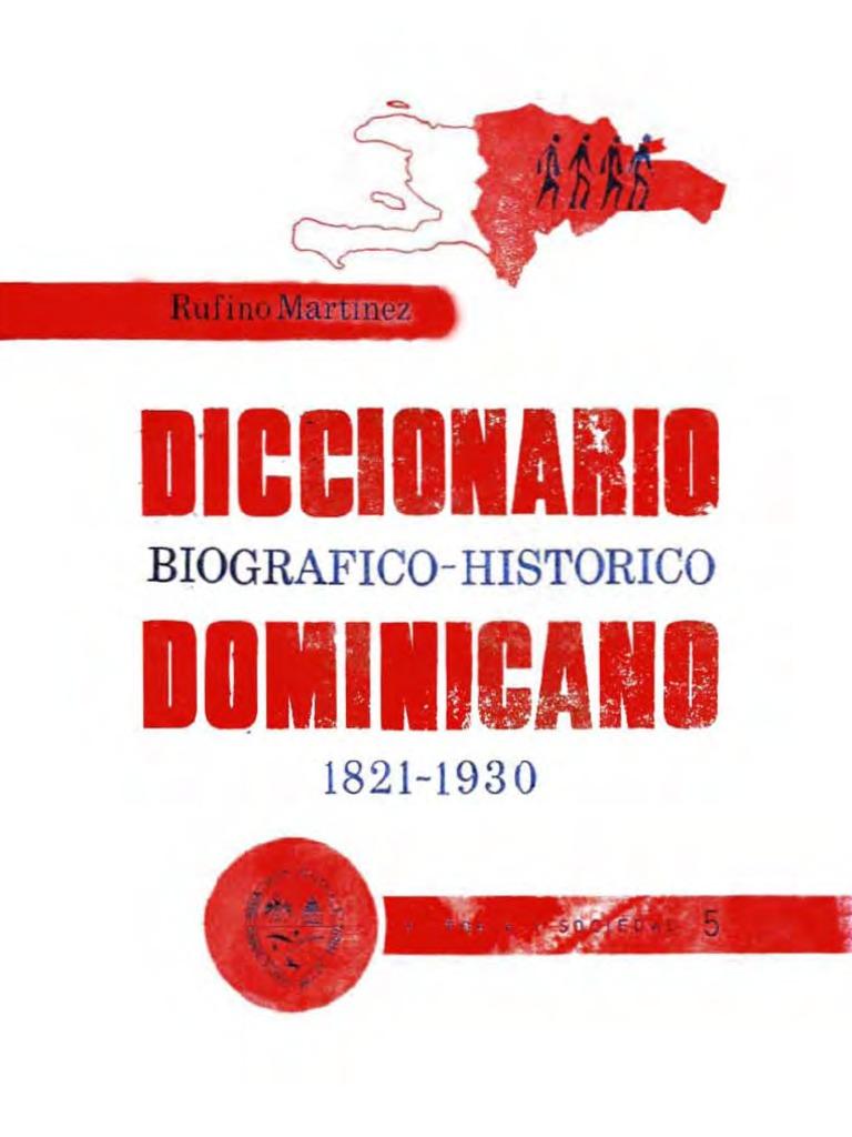 Rufino Martínez - Diccionario biográfico-histórico dominicano 1821 ...