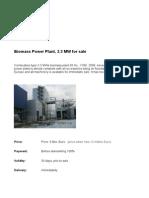 3.3 MW Biomass 50 Hz