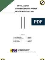 Optimalisasi Sumber Energi Primer Pada Bendung Lodoyo