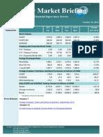 Weekly Market Briefing (Oct 13, 2014, Vol. XV, No. 41)