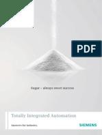 Siemens Sugar Brochure Automation