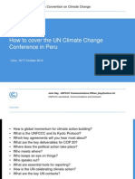 How to cover the UN Climate Change Conference in Peru